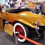 Birmingham NEC motor show - classic italian car - fiat 500 dealer