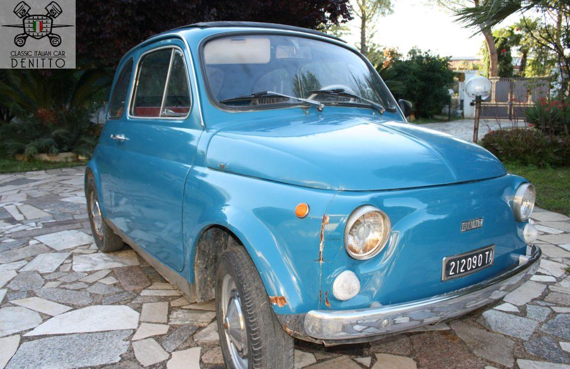 fiat 500 f light blue 1968 denitto classic cars. Black Bedroom Furniture Sets. Home Design Ideas