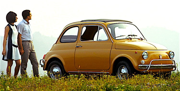 The classic Fiat 500 models