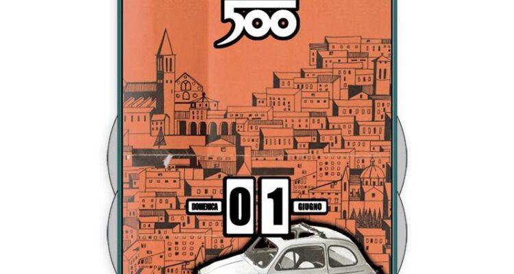 Perpetual calendar classic Fiat 500 - white