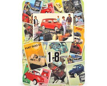 Perpetual calendar classic fiat 500 - mix pictures fiat 500 D/F/L/R