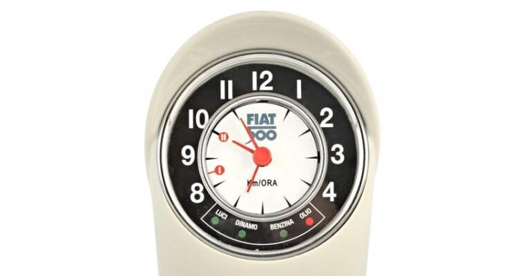 Table clock classic Fiat 500 F - White