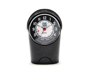 Table clock classic Fiat 500 R - Black